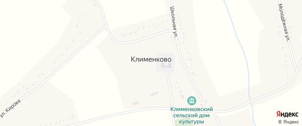Луговая улица на карте села Клименково с номерами домов