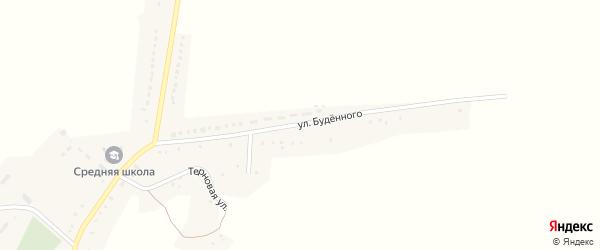 Улица Будённого на карте Харьковского села с номерами домов