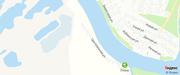 Улица Строителей на карте садового некоммерческого товарищества Весны с номерами домов