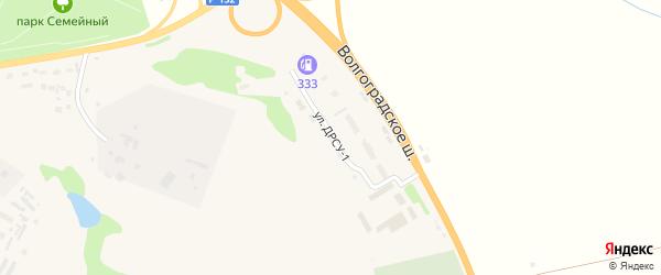 Улица ДРСУ-1 на карте Михайлова с номерами домов