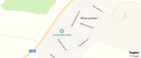 Лесная улица на карте деревни Абакумово с номерами домов