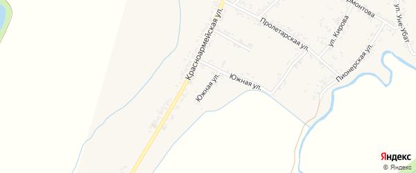 Южная улица на карте Шенджий аула с номерами домов