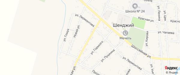 Красноармейская улица на карте Шенджий аула с номерами домов