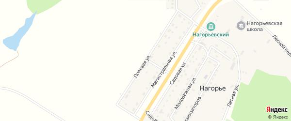 Полевая улица на карте села Нагорья с номерами домов