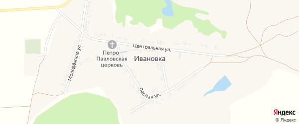 Лесная улица на карте села Ивановки с номерами домов