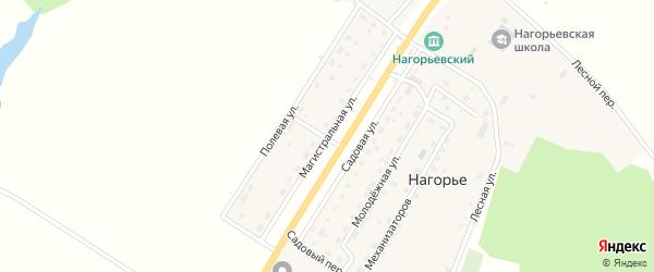 Магистральная улица на карте села Нагорья с номерами домов
