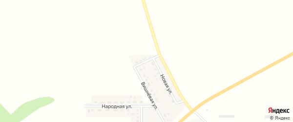 Вишневый переулок на карте села Нагорья с номерами домов