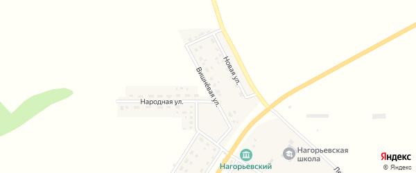 Вишневая улица на карте села Нагорья с номерами домов
