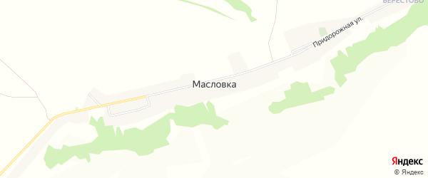 Карта села Масловки в Белгородской области с улицами и номерами домов
