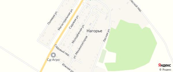 Улица Механизаторов на карте села Нагорья с номерами домов