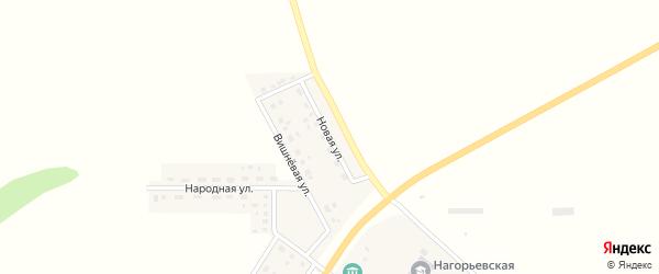 Новая улица на карте села Нагорья с номерами домов