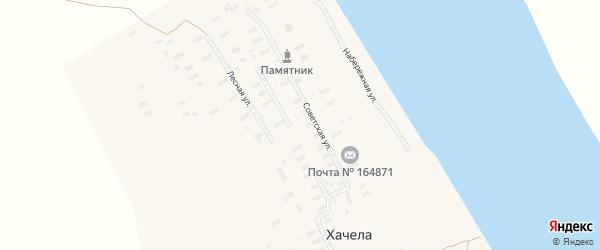 Лесная улица на карте деревни Хачелы с номерами домов
