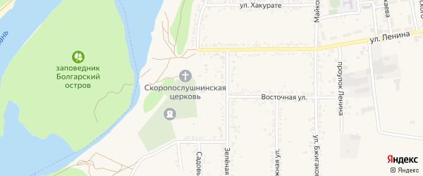 Переулок Коммунаров на карте поселка Тлюстенхабля с номерами домов