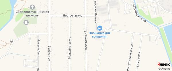 Улица Бжигакова на карте поселка Тлюстенхабля с номерами домов
