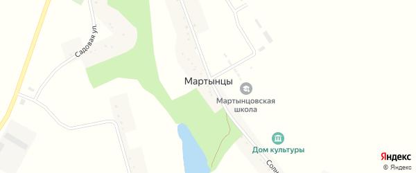 Солнечная улица на карте села Мартынцы с номерами домов