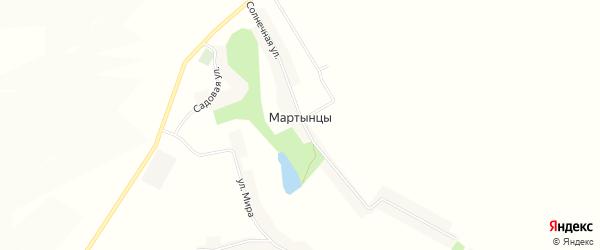 Карта села Мартынцы в Белгородской области с улицами и номерами домов