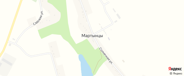 Садовая улица на карте села Мартынцы с номерами домов