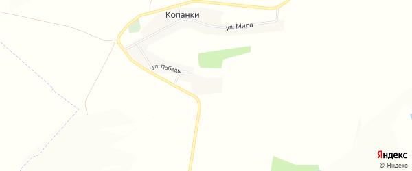 Карта села Копанки в Белгородской области с улицами и номерами домов