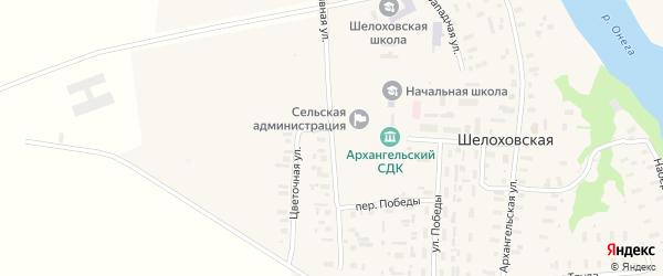Спортивная улица на карте Шелоховской деревни с номерами домов