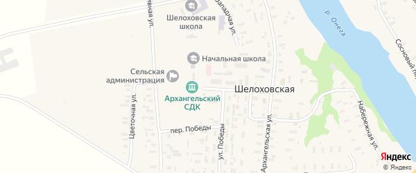 Советская улица на карте Шелоховской деревни с номерами домов