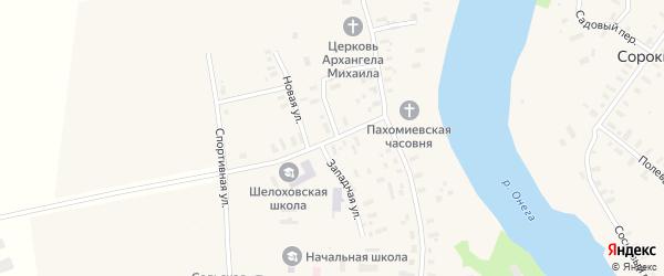 Школьная улица на карте деревни Абакумово с номерами домов