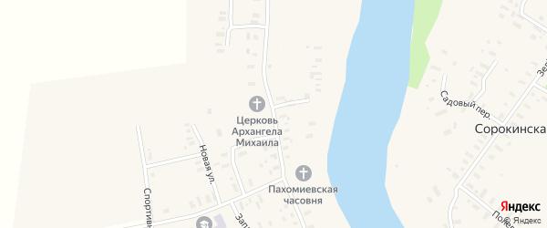 Архангельская улица на карте Климовской деревни с номерами домов