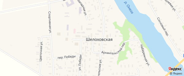 Архангельский переулок на карте Шелоховской деревни с номерами домов