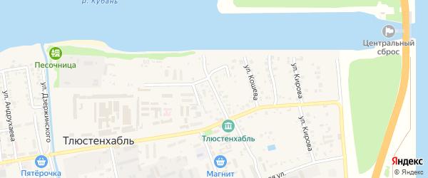 Улица Хан-Гирея на карте поселка Тлюстенхабля с номерами домов