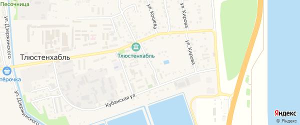 Заречная улица на карте поселка Тлюстенхабля с номерами домов