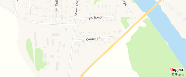 Южная улица на карте Шелоховской деревни с номерами домов