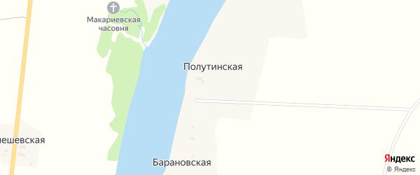 Набережная улица на карте Полутинской деревни с номерами домов