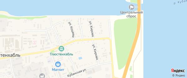 Улица Кирова на карте поселка Тлюстенхабля с номерами домов