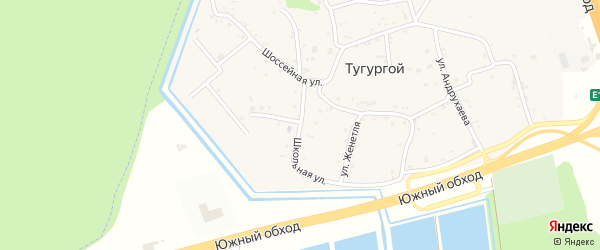 Школьная улица на карте Тугургоя аула с номерами домов