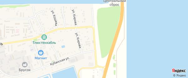 Адыгейская улица на карте поселка Тлюстенхабля с номерами домов