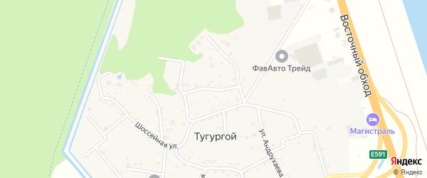 Комсомольская улица на карте Тугургоя аула с номерами домов