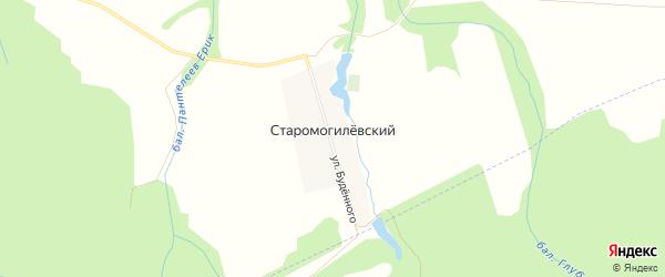 Карта Старомогилевского хутора в Адыгее с улицами и номерами домов