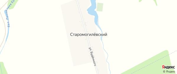 Дорога А/Д Подъезд к х. Старомогилевский на карте Старомогилевского хутора с номерами домов