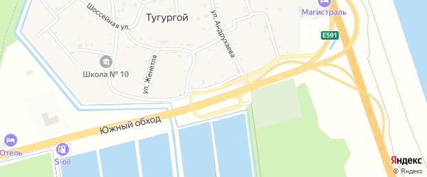 Первомайская улица на карте Тугургоя аула с номерами домов