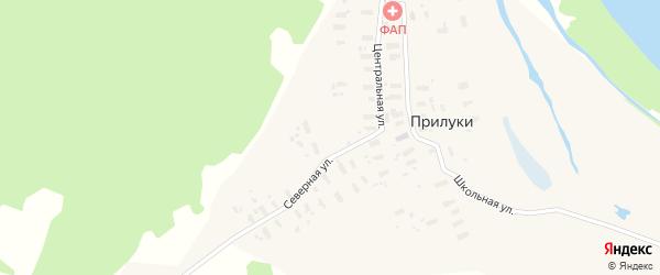 Центральная улица на карте деревни Прилук с номерами домов