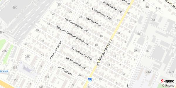 Красно-Лимановский Переулок в Воронеже