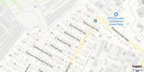 Валуйский Переулок в Воронеже