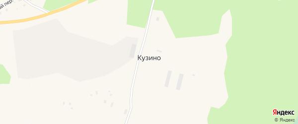 Производственная улица на карте деревни Кузино с номерами домов