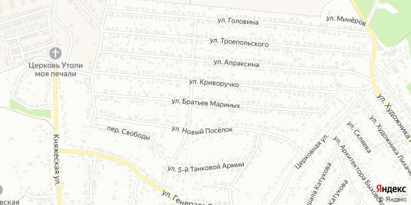 Братьев Мариных Улица в Воронеже