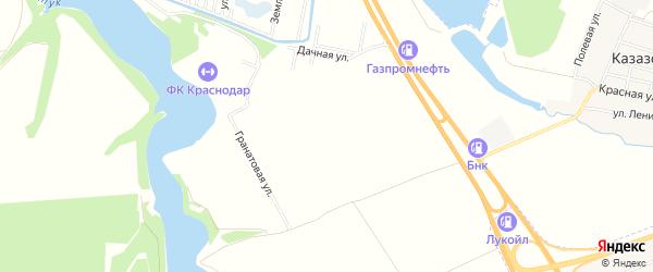 Карта садового некоммерческого товарищества Адыгеи в Адыгее с улицами и номерами домов