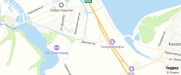 Карта садового некоммерческого товарищества Кавказа в Адыгее с улицами и номерами домов