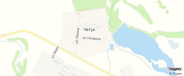 Улица Гагарина на карте поселка Четука с номерами домов