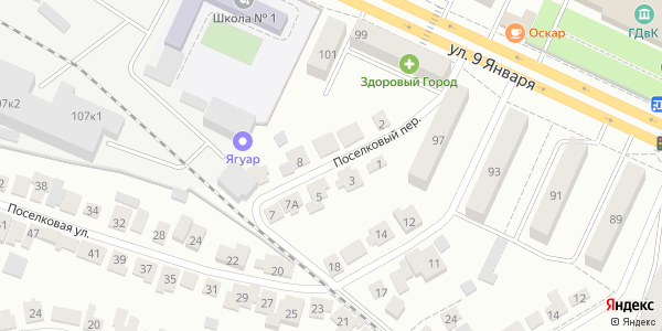 Поселковый Переулок в Воронеже