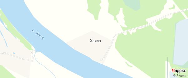 Карта деревни Хаялы в Архангельской области с улицами и номерами домов