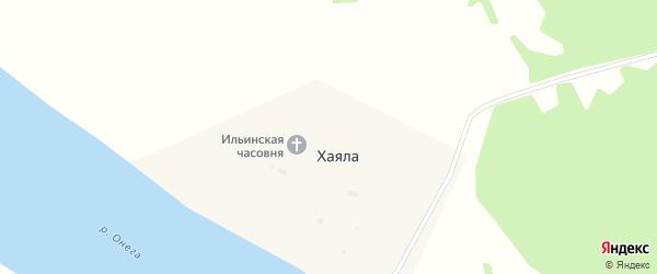Дорожная улица на карте деревни Хаялы с номерами домов