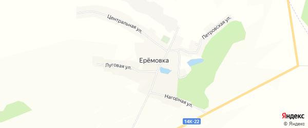 Карта села Еремовки в Белгородской области с улицами и номерами домов
